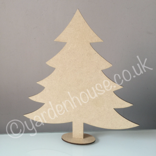 Free standing Christmas Tree, 3mm MDF, 25cm high
